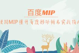 百度MIP:使用MIP提升百度移動排名實戰指南