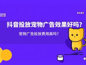抖音投放寵物廣告效果好嗎?寵物廣告投放費用高嗎?