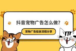 抖音寵物廣告怎么做?寵物廣告投放流程分享