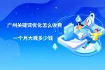 廣州關鍵詞優化怎么收費?一個月大概多少錢?