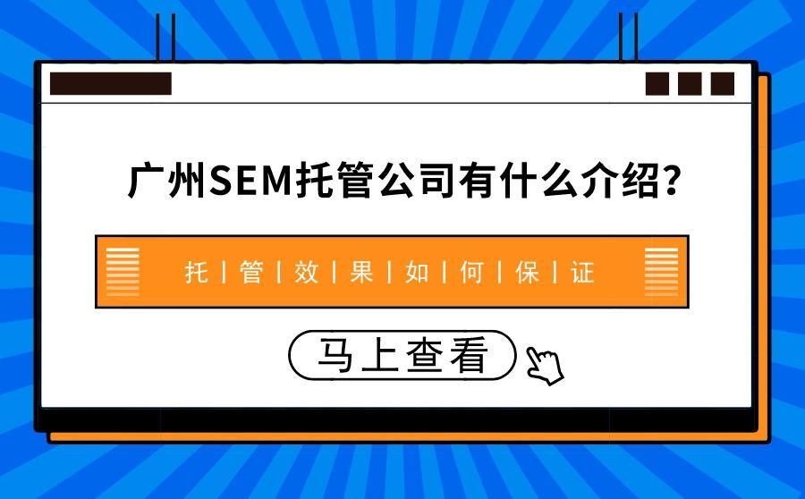 如何选择广州SEM公司