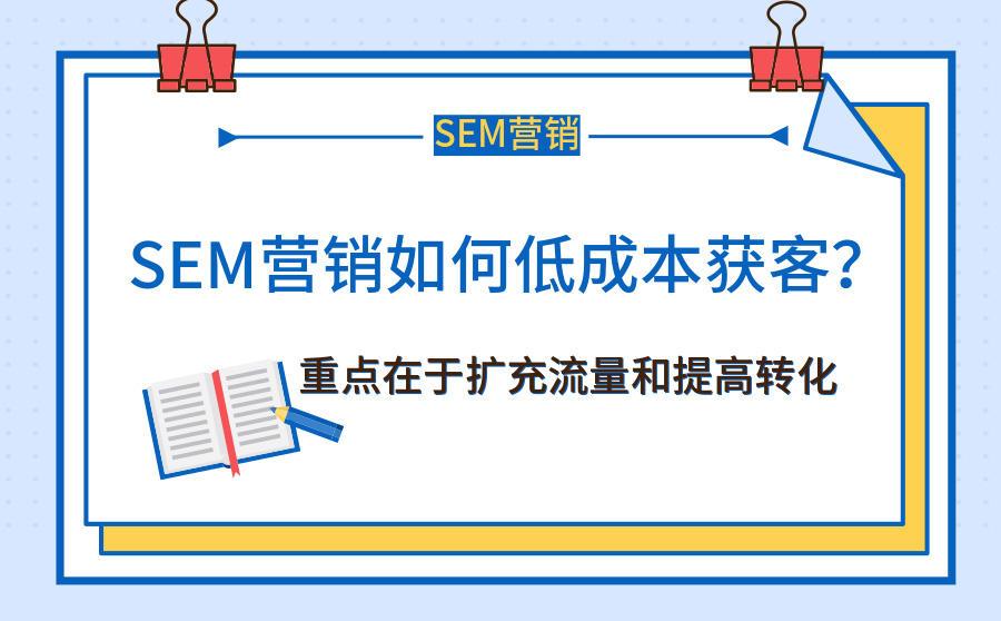 SEM营销如何低成本获客?重点在于扩充流量和提高转化,广西红客