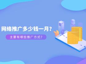 网络推广多少钱一月?主要有哪些推广方式?