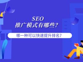 SEO的推广模式有哪些?哪一种可以快速提升关键词排名?
