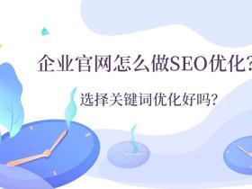 企业官网怎么做SEO优化?选择关键词优化好吗?