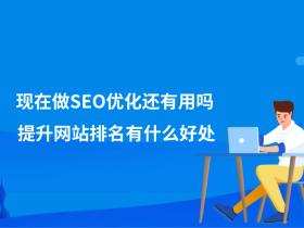 现在做SEO优化还有用吗?提升网站排名有什么好处?