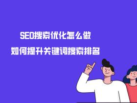 SEO搜索优化怎么做?如何提升关键词搜索排名?