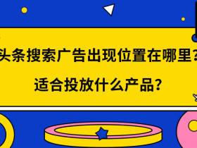 头条搜索广告出现位置在哪里?适合投放什么产品?
