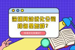 深圳网站优化公司排名是怎样?找谁优化效果好?