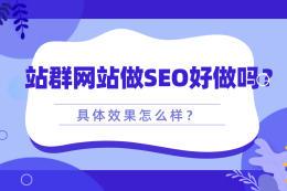 站群网站做SEO好做吗?具体效果怎么样?
